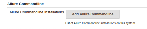 Find Allure Commandline